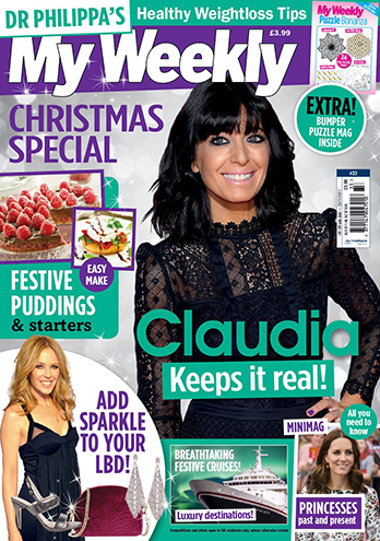 My weekly Special Cover with Claudia Winkleman