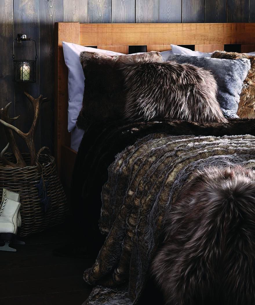 Dunelm Winter Lodge Fur Throws