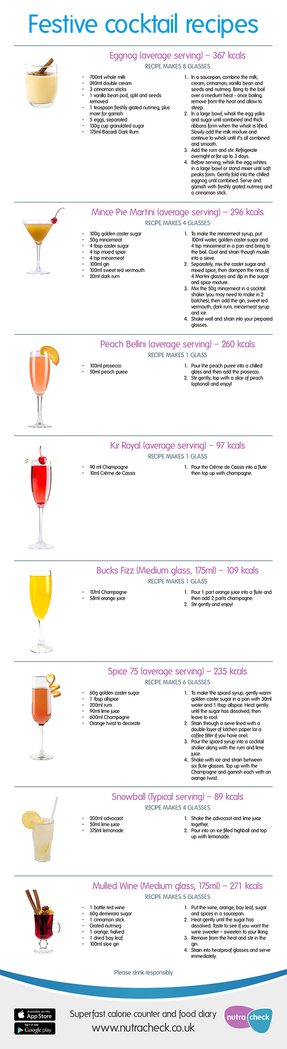 Festive Cocktails Infogram