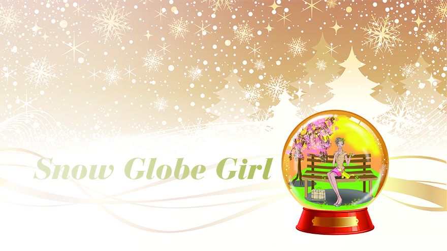 Girl in Christmas Snow Globe