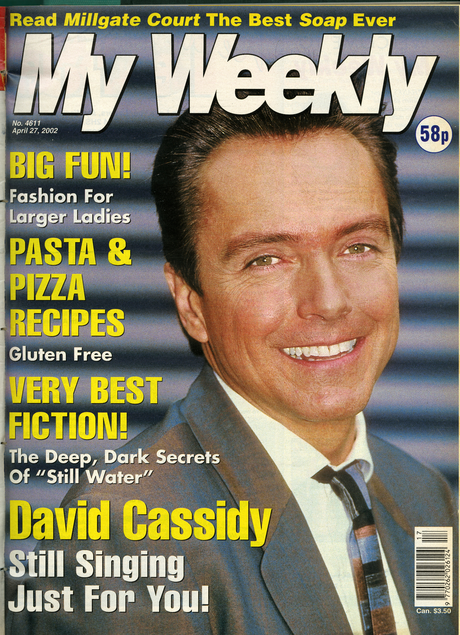 2002 cover of My Weekly featuring David Cassidy