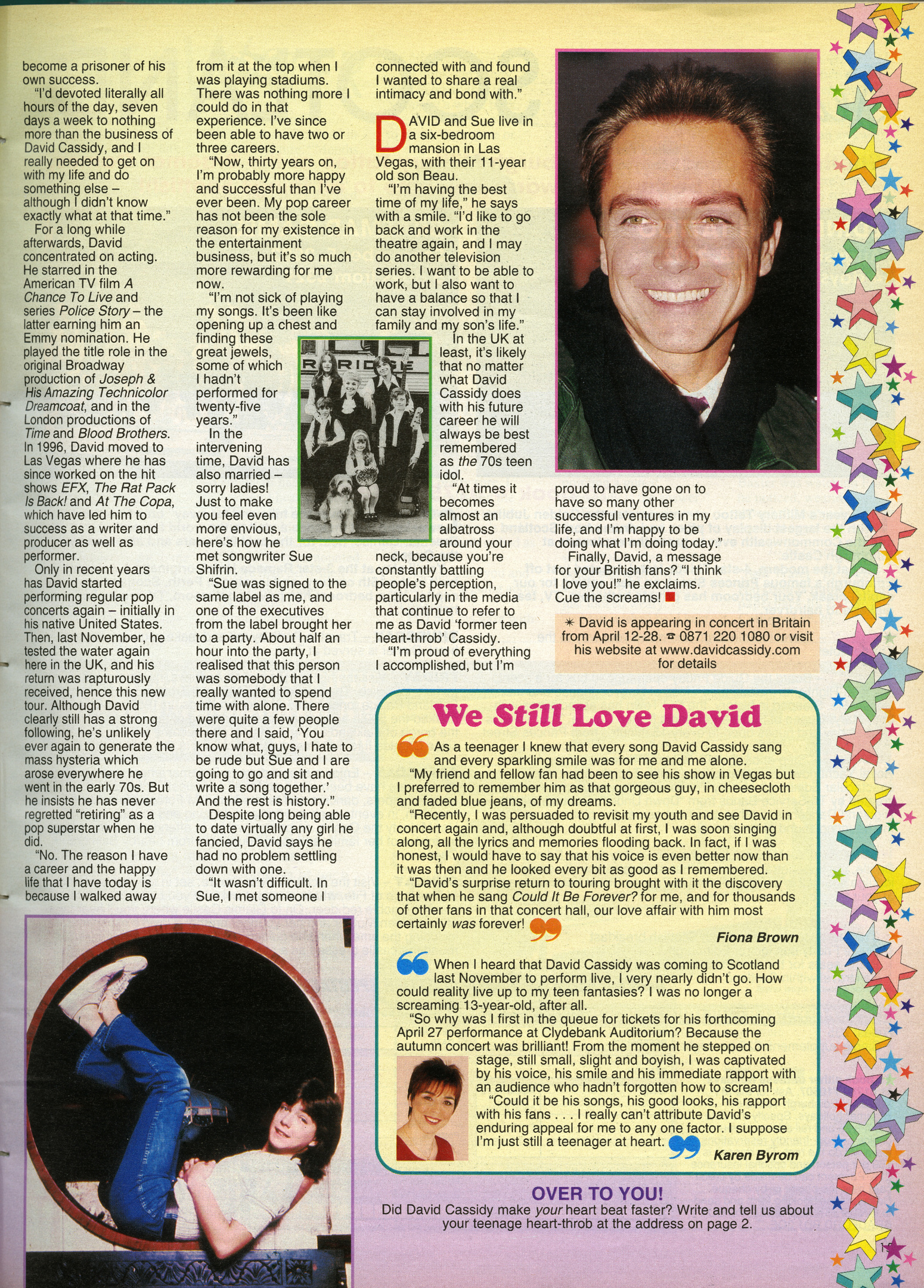 pictures of David Cassidy