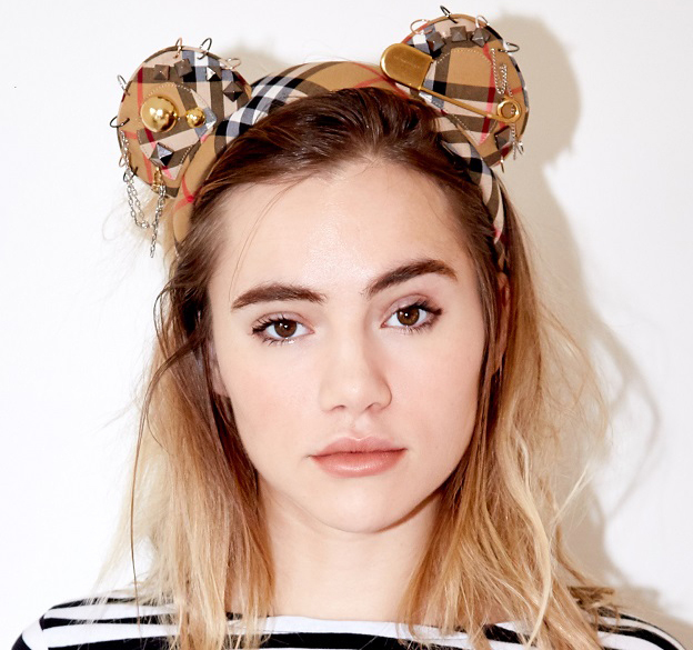 The Burberry contribution, worn by Suki Waterhouse