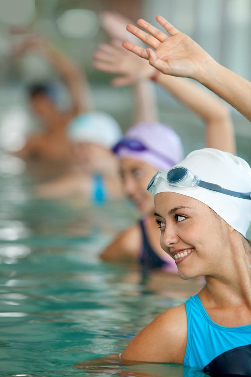 tip #1 swimming + aqua aerobics x