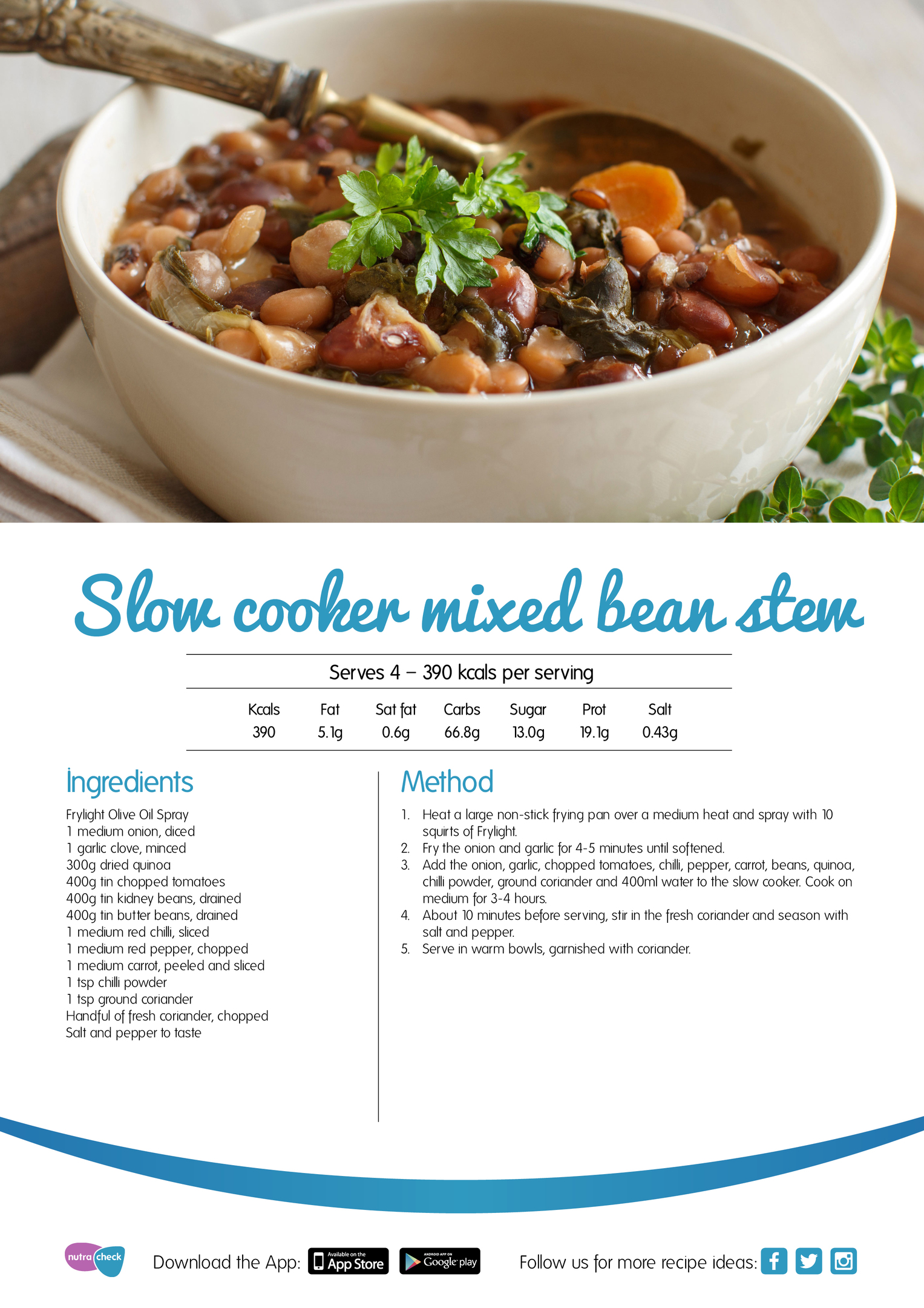 Slow cooker mixed bean stew