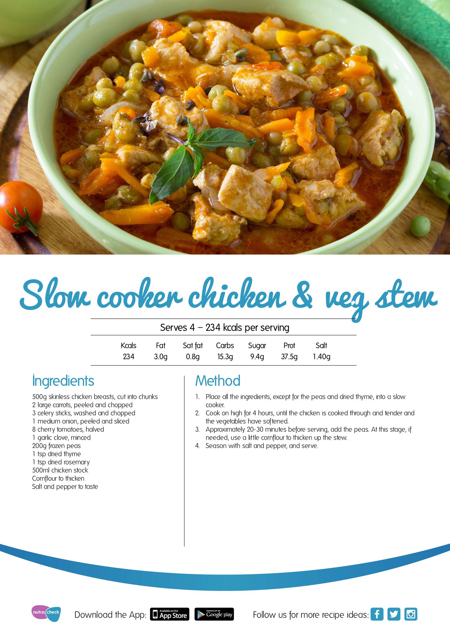 Slower cooker chicken and veg stew