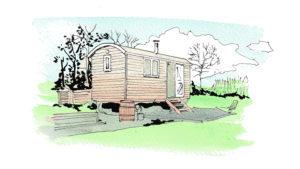 Shepherds view huts, Somerset