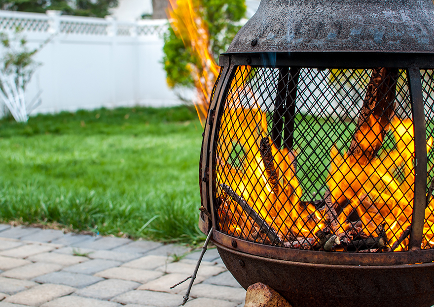 Fire pit for garden
