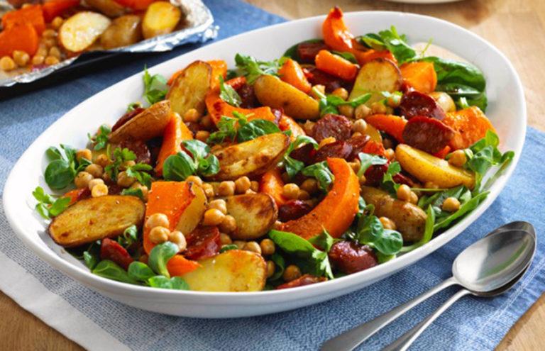 Chorizo & roasted veg Butternut Squash Salad