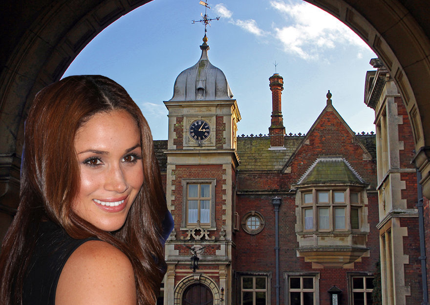 Meghan's in front of Sandringham