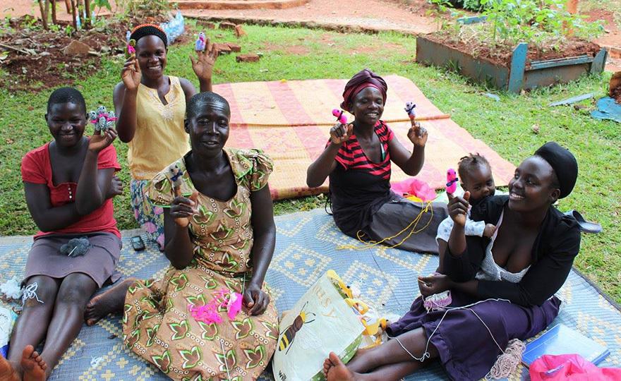 Ugandan knitters
