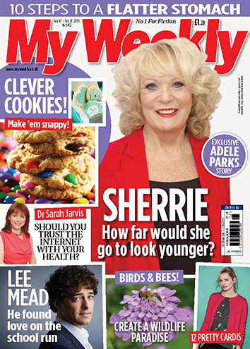 My Weekly cover Feb 24 with Sherrie Hewson