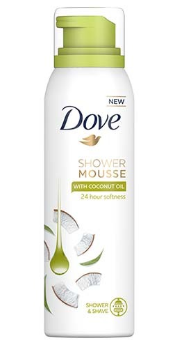 Dove foam coconut oil shower gel