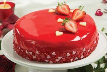 Finished Mirror Cake