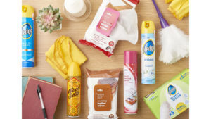 Wilko prize featuring duster, polishes, wipes etc for cleaning the home