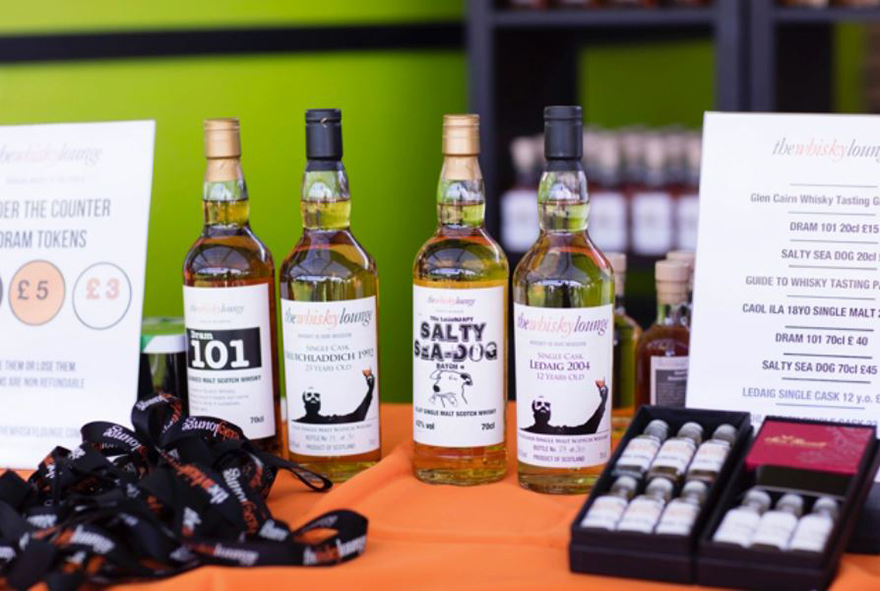 A selection of whisky and minatures
