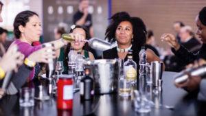 Women enjoying whisky tasting