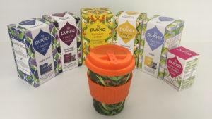 pukka tea kits and reusable cup
