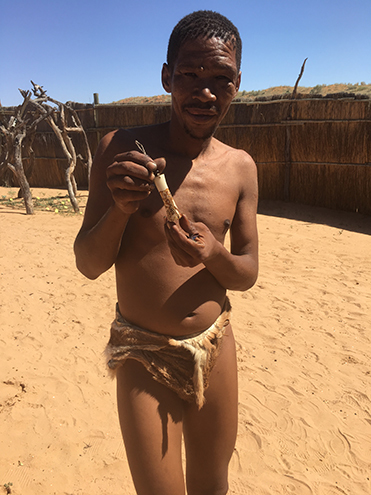 Kalahri man of the Khomani San tribe