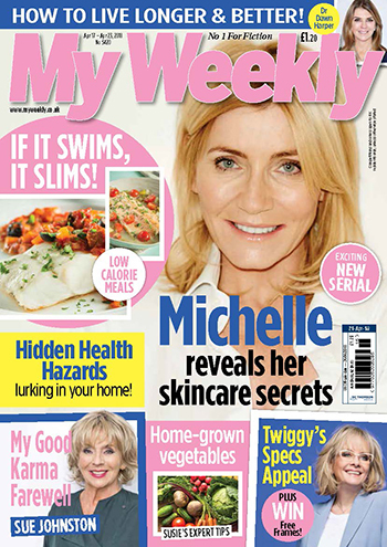 My Weekly April 21 cover featuring Michelle Collins
