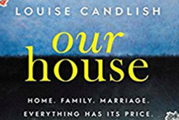 close-up of our house book cover