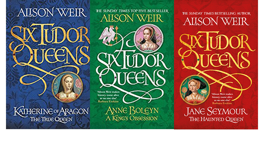 Alison Weir book covers for six tudor queens