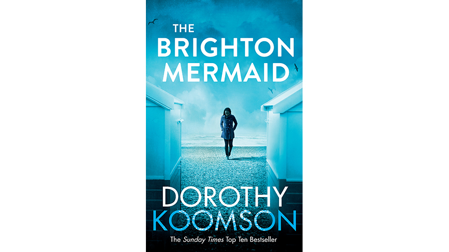 The Brighton Mermaid cover, woman on blue background