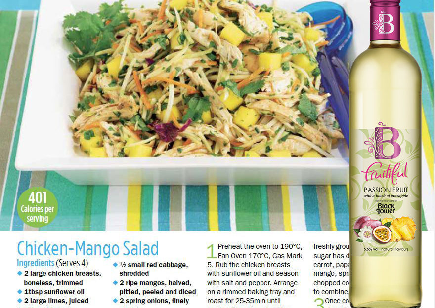 Mango Chicken Salad with white wine