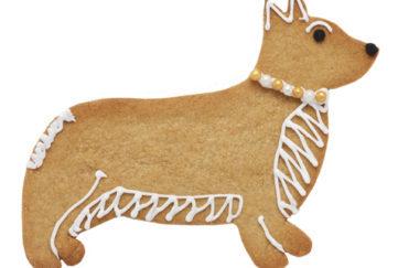 Corgie dog shaped cookie
