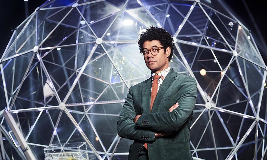 The Crystal Maze presenter Richard Ayoade Pic: Channel 4
