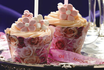 Two beautiful cupcakes