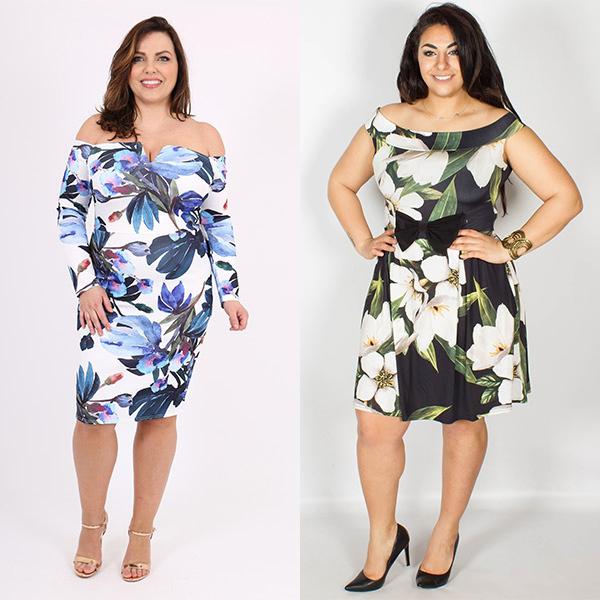 Floral dresses Pictures:WantThatTrend.com,CurveWow.com