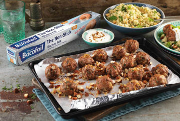Moroccan meatballs in a tray