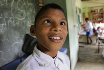A boy in Sri Lanka's Happy Village