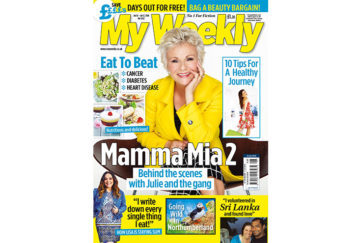 Cover of My Weekly July 10, 2018, with Julie Walters and healthy cookery