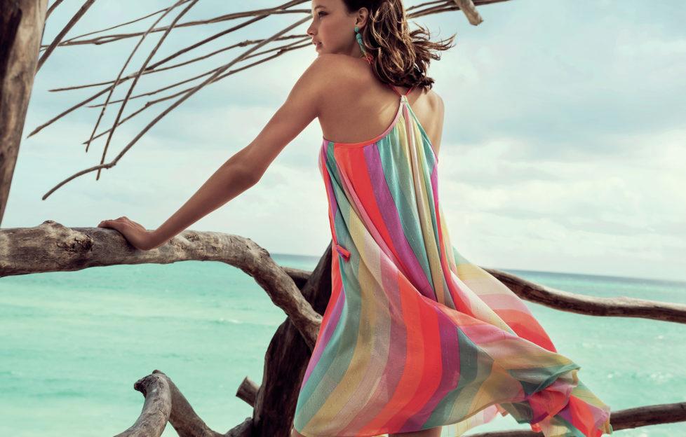 model in summer dress