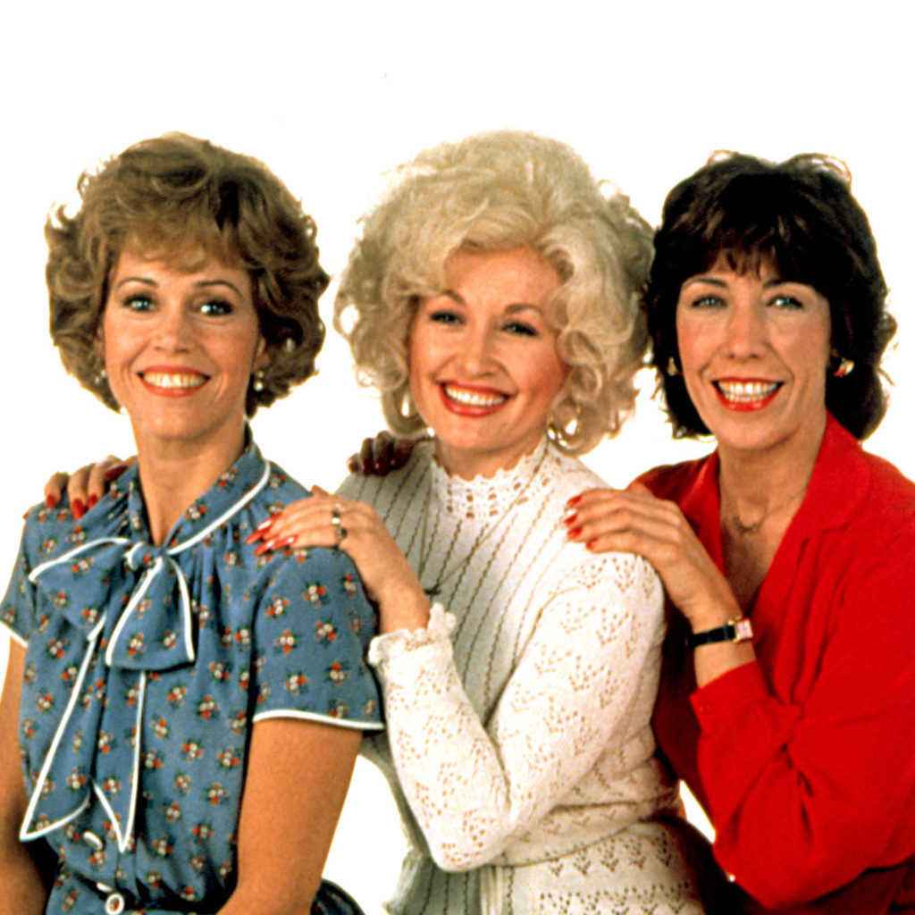 HCX0AR NINE TO FIVE, (aka 9 TO 5), Jane Fonda, Dolly Parton, Lily Tomlin, in the 1980 film 9 To 5.