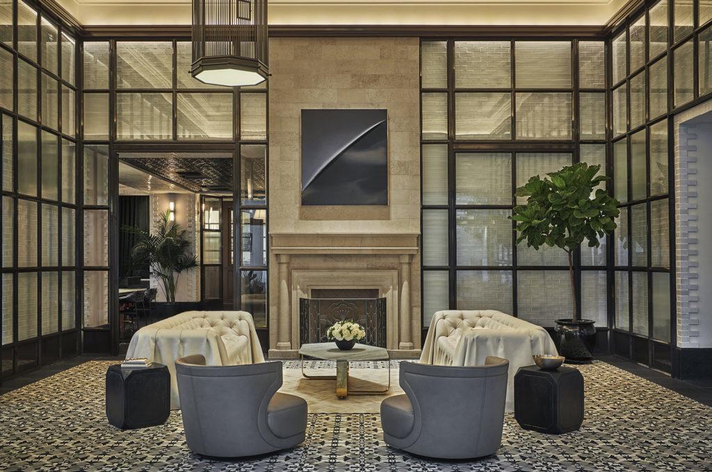 Pendry hotel lobby