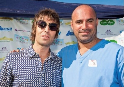 PupAid founder Marc Abraham with Liam Gallagher at last year's event