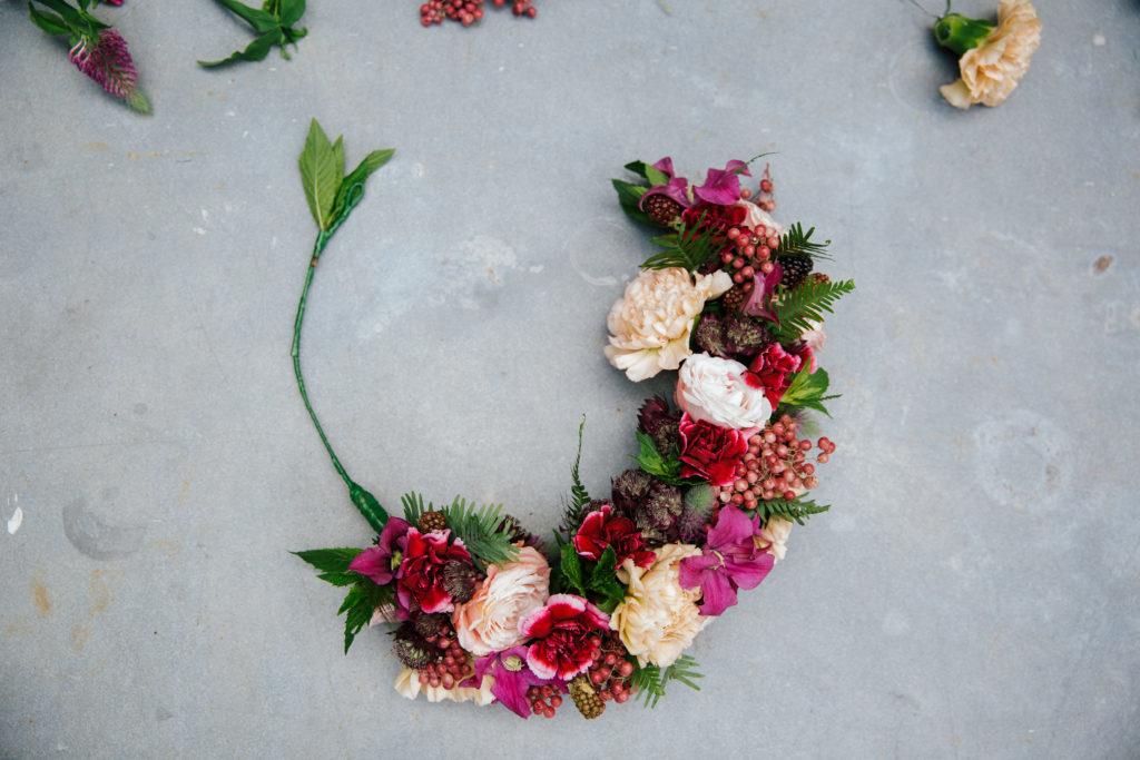 step 7 flower crown