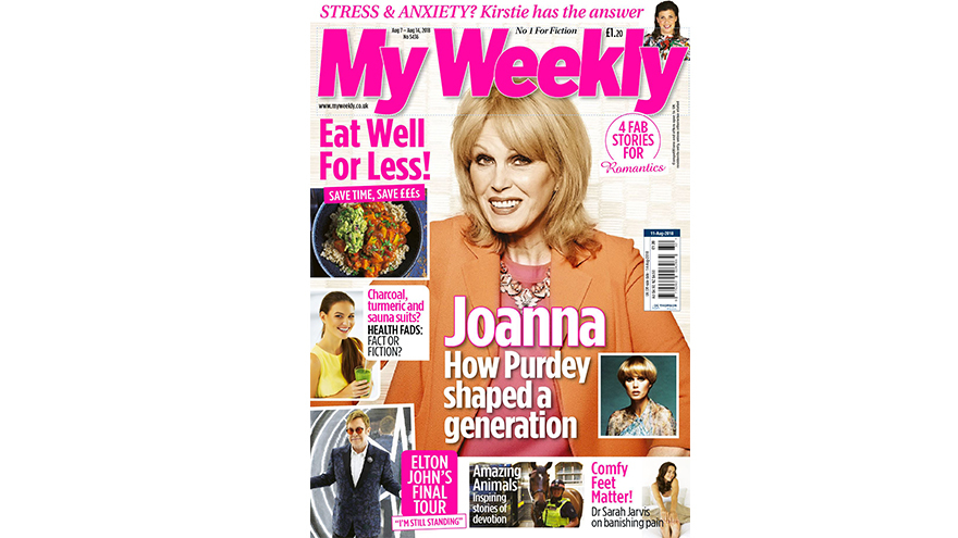Cover of My Weekly Aug 7 with Joanna Lumley and healthy budget recipes