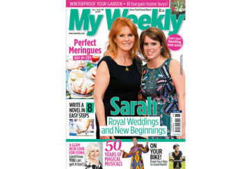 My Weekly latest issue Sept 4, 2018 with Sarah Ferguson and Princess Beatrice plus meringue masterclass