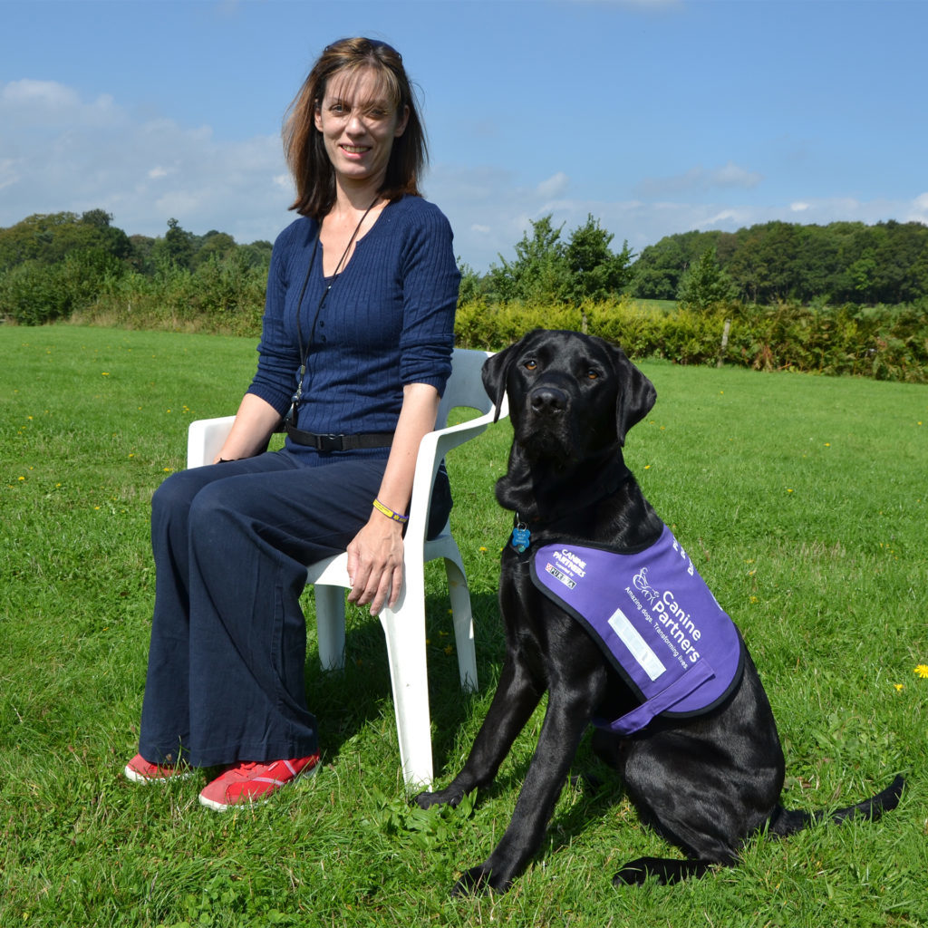 Assistance dog Verlin with owner Fiona c Canine Partners