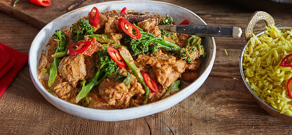 Chicken Rogan Josh with Tenderstem brocolli
