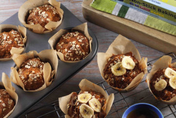 Salted Caramel and Banana Muffins
