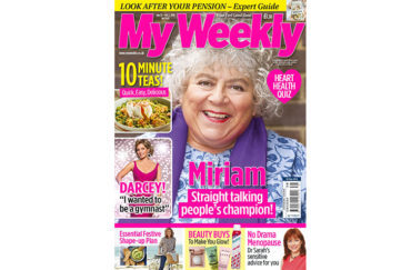 Cover of My Weekly September 25, 2018 with Miriam Margolyes and 10 Minute Dinners