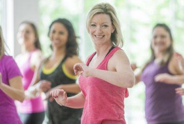 Older women at a dance class