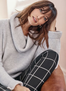 model in sweater