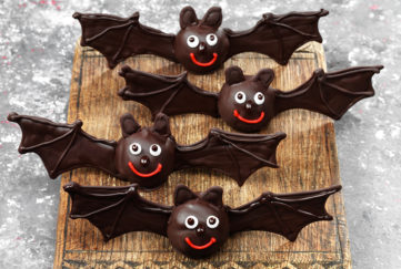 Chocolate bats for Halloween