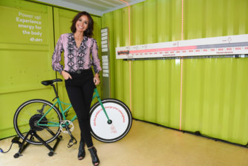 LONDON, ENGLAND - October 17: Melanie Sykes launches E.ON's Recharge Retreat on Londons Southbank, to help recharge peoples batteries and beat the autumn blues, on October 17, 2018 in London, England. (Photo by Nicky J Sims/Getty Images for E.ON)